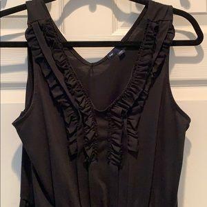 GAP Black Cotton Midi Dress - Size M